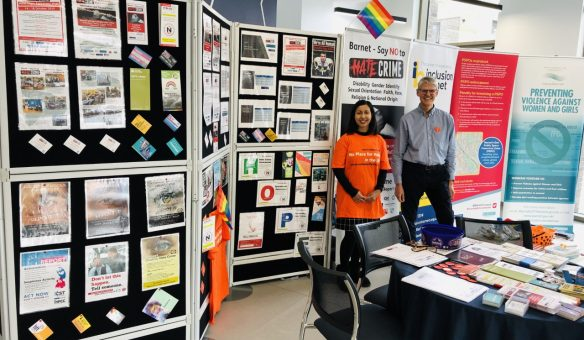 A stand at Hate Crime Awareness Week 2019
